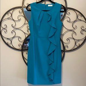 Calvin Klein Teal Sheath Dress 6